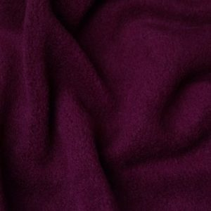 Fausse fourrure au mètre Tissu polaire uni rouge lie de vin, anti-pilling – Wine