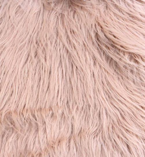 Fausse fourrure au mètre Fausse fourrure taupe à poil long – YF 306/1 Lt Taupe
