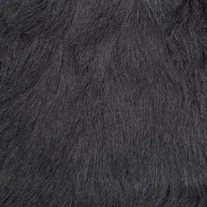 Fausse fourrure au mètre Fausse fourrure noire à poil long – YF 306/1 Black