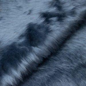 Fausse fourrure au mètre Fausse fourrure pas cher bleu minéral à poil court – W1/60-Airforce-798