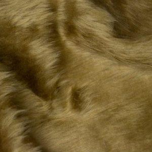 Fausse fourrure au mètre Fausse fourrure pas cher brune à poil court – W1/60-Antelope