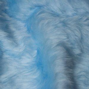 Fausse fourrure au mètre Fausse fourrure pas cher bleu ciel à poil court – W1/60-B-Blue