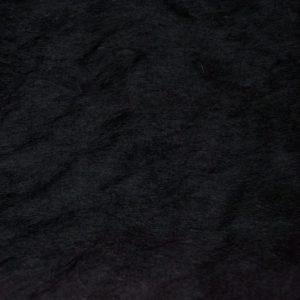 Fausse fourrure au mètre Fausse fourrure pas cher noire à poil court – W1/60-Black