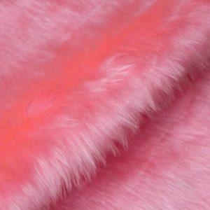 Fausse fourrure au mètre Fausse fourrure pas cher rose blush à poil court – W1/60-Blush-768
