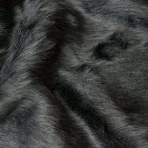 Fausse fourrure au mètre Fausse fourrure pas cher gris sombre à poil court – W1/60-Dark-Grey-554