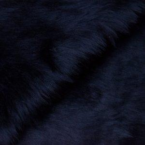 Fausse fourrure au mètre Fausse fourrure pas cher bleu marine à poil court – W1/60-Navy-112