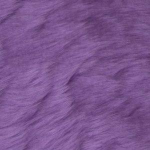 Fausse fourrure au mètre Fausse fourrure pas cher violette à poil court – W1/60-Heliotrope