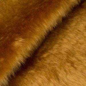 Fausse fourrure au mètre Fausse fourrure pas cher brun miel à poil court – W1/60-Honey