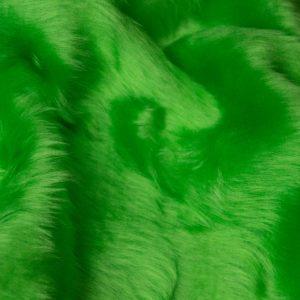 Fausse fourrure au mètre Fausse fourrure pas cher vert lime à poil court – W1/60-Lime-134