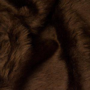 Fausse fourrure au mètre Fausse fourrure pas cher brun malt à poil court – W1/60-Malt-162