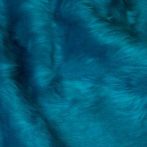 Fausse fourrure au mètre Fausse fourrure pas cher bleue à poil court – W1/60-Neptune