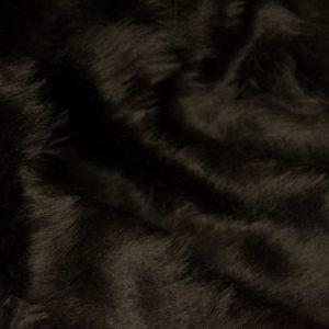 Fausse fourrure au mètre Fausse fourrure pas cher brun noisette à poil court – W1/60-Nut