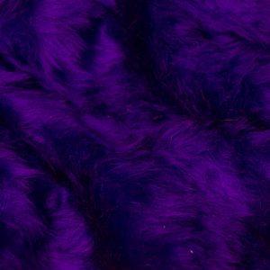 Fausse fourrure au mètre Fausse fourrure pas cher violette à poil court – W1/60-Purple-212