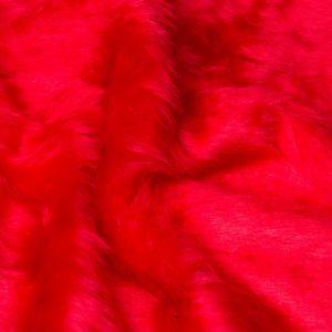 Fausse fourrure au mètre Fausse fourrure pas cher rouge à poil court – W1/60-R-Red