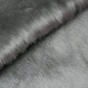 Fausse fourrure au mètre Fausse fourrure pas cher gris argenté à poil court – W1/60-Silverfox-186
