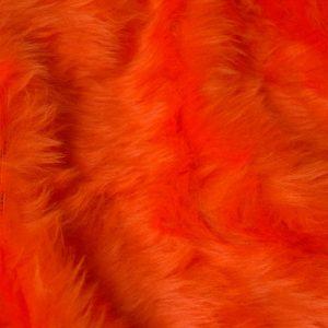 Fausse fourrure au mètre Fausse fourrure pas cher orange à poil court – W1/60-Tangerine