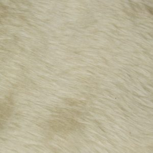 Fausse fourrure au mètre Fausse fourrure pas cher caramel crème à poil court – W1/60-Toffee
