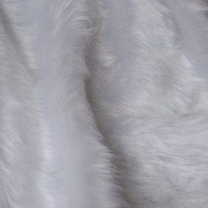 Fausse fourrure au mètre Fausse fourrure pas cher blanche à poil court – W1/60 White