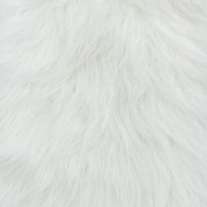 Fausse fourrure au mètre Fausse fourrure blanc crème à poil long – YF 306/1 Natural
