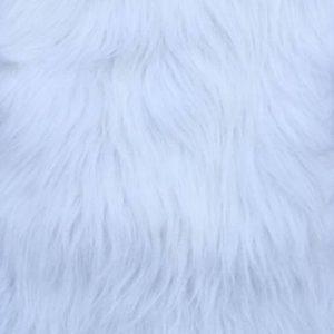 Fausse fourrure au mètre Fausse fourrure blanche à poil long – YF 306/1White
