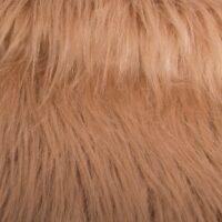 Fausse fourrure au mètre Fausse fourrure taupe à poil long – AC356-Taupe