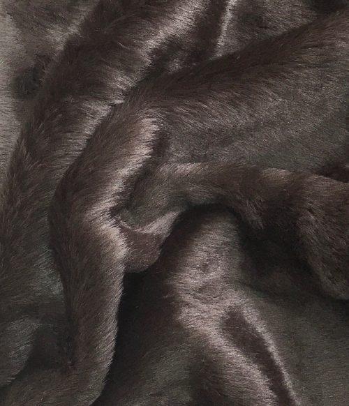 Fausse fourrure au mètre Tissu fausse fourrure brun foncé super rapport qualité prix – YF 286/1 Dk Brown 0904