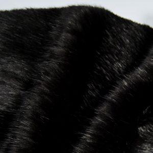 Fausse fourrure au mètre Tissu fausse fourrure super doux noir – 7554 black