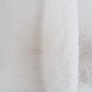 Fausse fourrure de luxe Tissu fausse fourrure super doux blanc – 3105 S. white