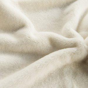 Fausse fourrure de luxe Fausse fourrure blanc crème super douce pour doublure – 2R338 Cream