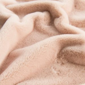 Fausse fourrure au mètre Fausse fourrure rose poudré super douce pour doublure – 2R338 Pink