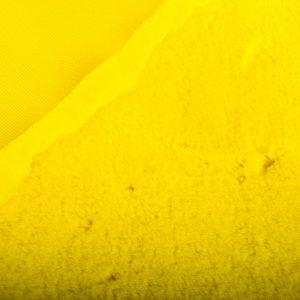 Fausse fourrure de luxe Tissu fausse fourrure super doux imitation lapin, jaune – 3091 African yellow