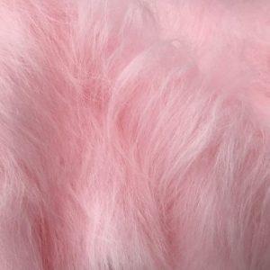 Fausse fourrure au mètre Fausse fourrure rose à poil long – AC356-B.Pink