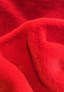 Fausse fourrure de luxe Tissu fausse fourrure super doux imitation lapin, rouge vermillon – 3091 Cinabre
