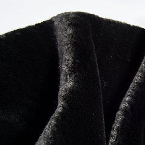 Fausse fourrure au mètre Fausse fourrure noire super douce façon lapin – Saluki 2R333 Black