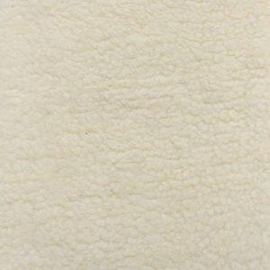 Fausse fourrure au mètre Fausse fourrure façon mouton de couleur blanc crème – YF 158/1 1320