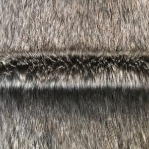 Fausse fourrure au mètre Fausse fourrure de luxe renard/loup gris et noir super douce – 3054 Arctic grey