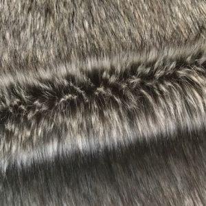 Fausse fourrure au mètre Fausse fourrure de luxe renard/loup brun beige super douce – 3054 Brown/beige