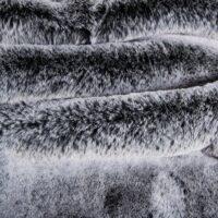 Fausse fourrure au mètre Tissu fausse fourrure super doux imitation lapin, noir argenté – 3091 Black Silver