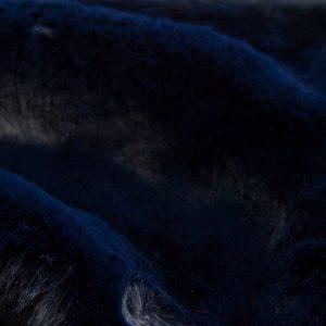 Fausse fourrure de luxe Tissu fausse fourrure super doux imitation lapin, bleu foncé – 2R330 Dk. Blue