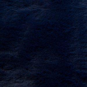 Fausse fourrure de luxe Tissu fausse fourrure super doux imitation lapin, bleu foncé – 3091 Dark Blue