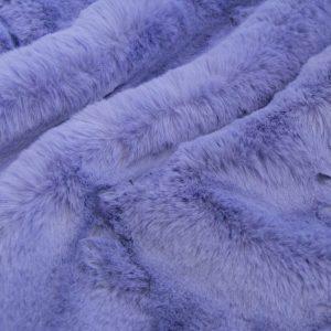 Fausse fourrure de luxe Tissu fausse fourrure super doux imitation lapin, bleu lavande – 3091 Lavender