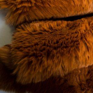 Fausse fourrure au mètre Tissu fausse fourrure super doux bronze – 3105 Bronze
