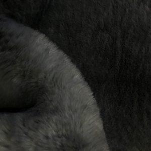 Fausse fourrure de luxe Tissu fausse fourrure super doux gris foncé – 3105 Dark Grey