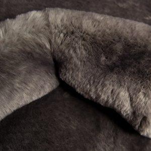 Fausse fourrure au mètre Tissu fausse fourrure super doux gris foncé – 3105 Dark Grey
