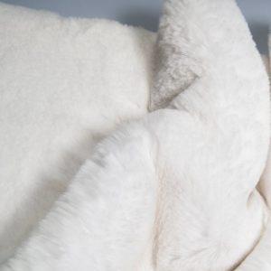 Fausse fourrure au mètre Tissu fausse fourrure super doux blanc – 3105 S. white