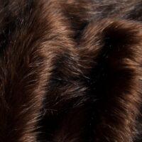 Fausse fourrure au mètre Fausse fourrure imitation renard brun foncé – 7552 Brown Black
