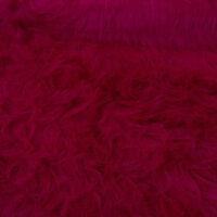 Fausse fourrure au mètre Fausse fourrure rouge magenta à poil long – AC356 Magenta