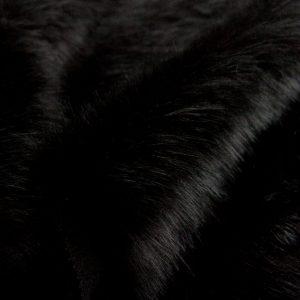 Fausse fourrure au mètre Tissu fausse fourrure super doux façon renard noir – 1611 Plain Fox Coal