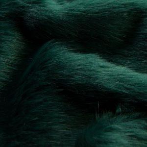 Fausse fourrure au mètre Tissu fausse fourrure super doux façon renard vert foncé – 1611 Plain Fox Green