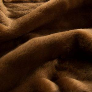 Fausse fourrure de luxe Tissu fausse fourrure texturé imitation vison brun – 1621 Chestnut